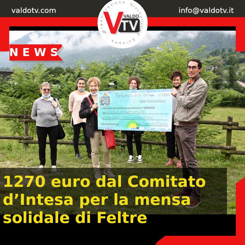 1270 euros du Comité d'Accord pour la cantine solidaire de Feltre - Championnat d'Europe de Football 2020