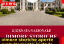 4 ottobre 2020: dimore storiche aperte gratuitamente in Italia.