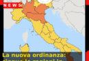 La nuova ordinanza: cinque le regioni in area arancione