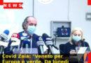 """Covid Zaia: """"Veneto per Europa è verde. Da lunedì forse zona gialla, aspettiamo ISS"""""""