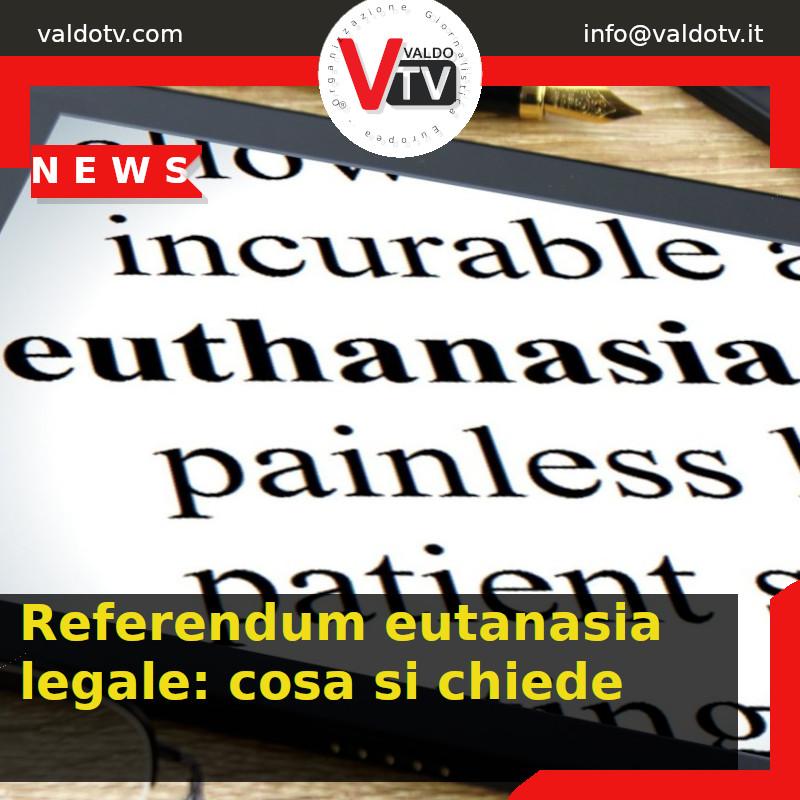Referendum eutanasia legale: cosa si chiede