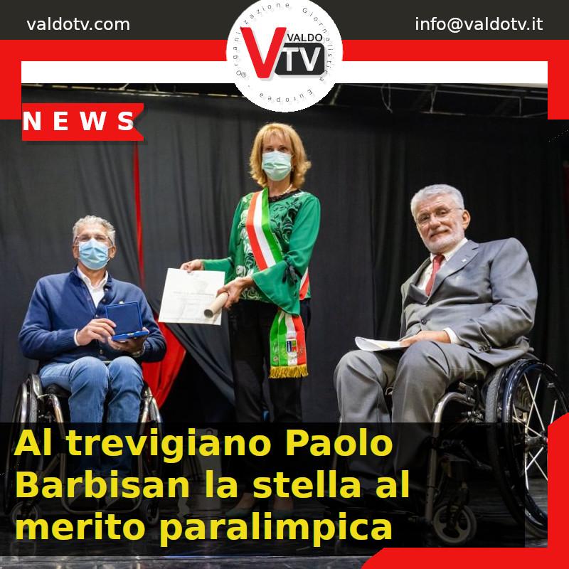 Al trevigiano Paolo Barbisan la stella al merito paralimpica
