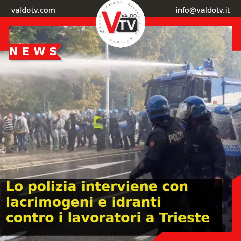 Lo polizia interviene con lacrimogeni e idranti contro i lavoratori
